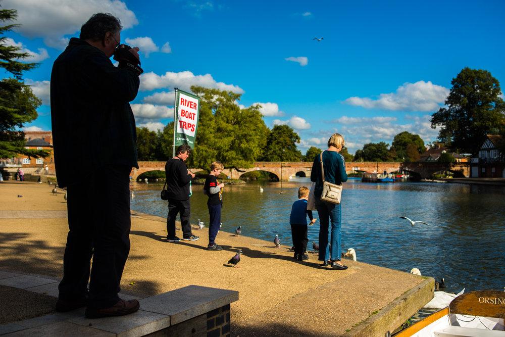 People Feeding Birds at Boat Trip Dock 22/09/2016