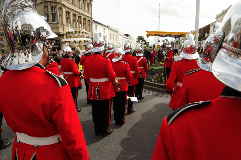 Marching band at Shakespeare's birthday celebration 17/04/2014