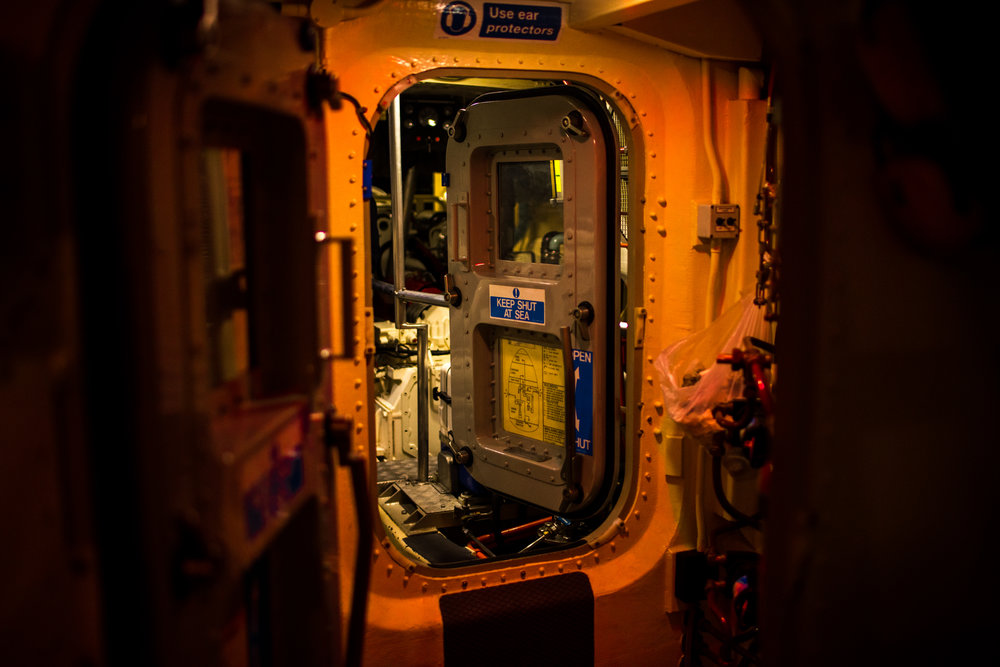 Door to the engine room