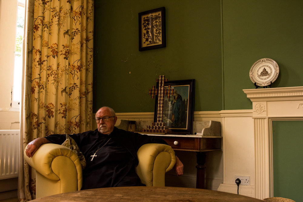 The Father Abbot of Belmont Abbey in the drawing room