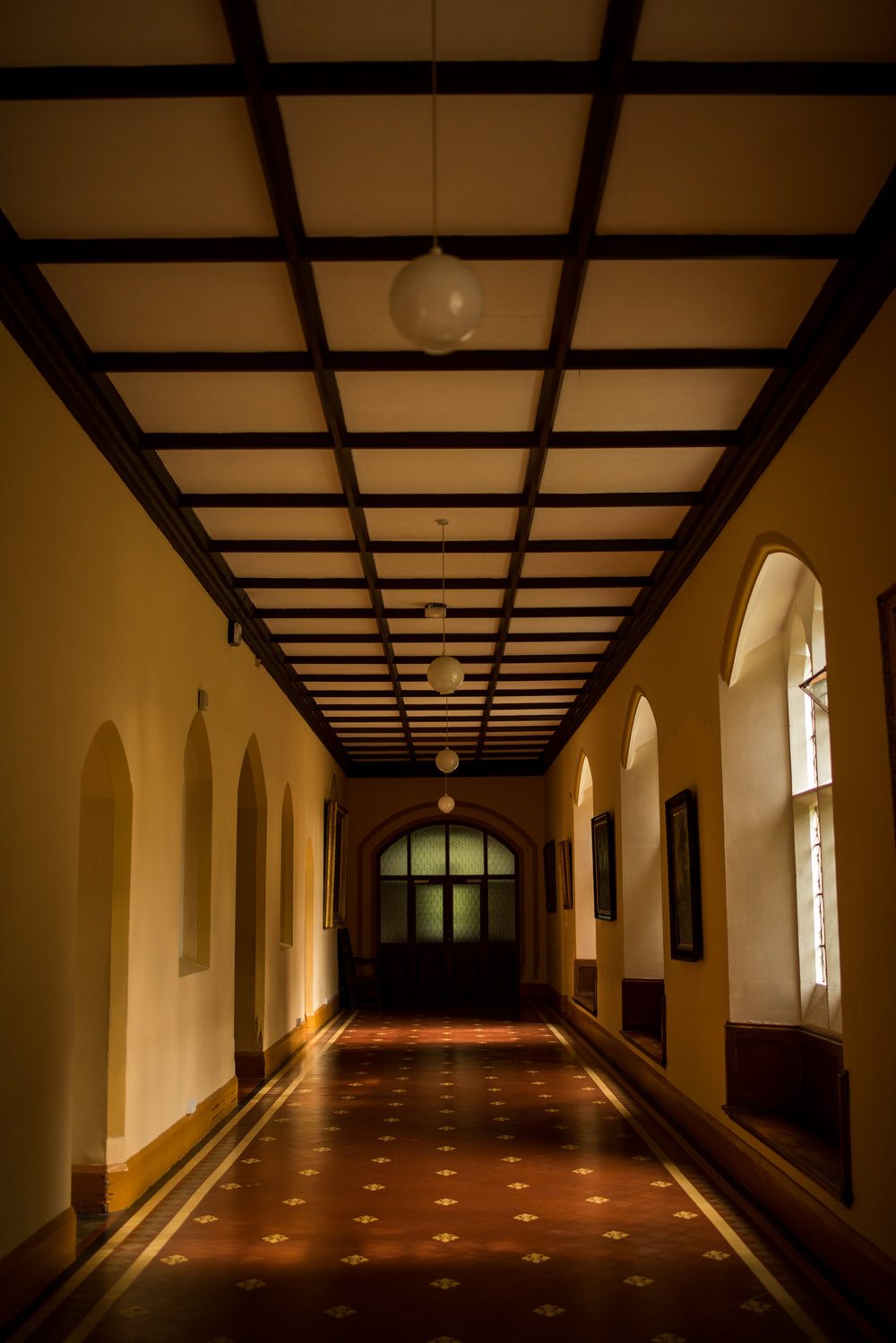 The hallway to the Church