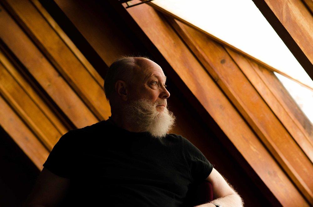 RSC actor Jim Hooper in the theatre's quiet room