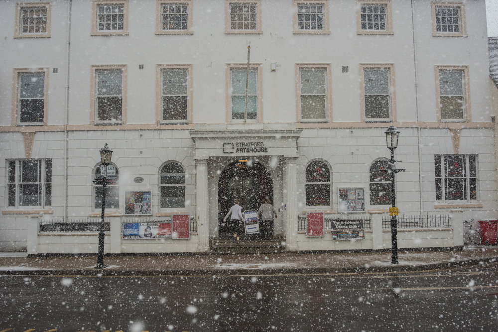 Snow Closed Closing Stratford ArtsHouse Arts House Stratford-upon-Avon 2018