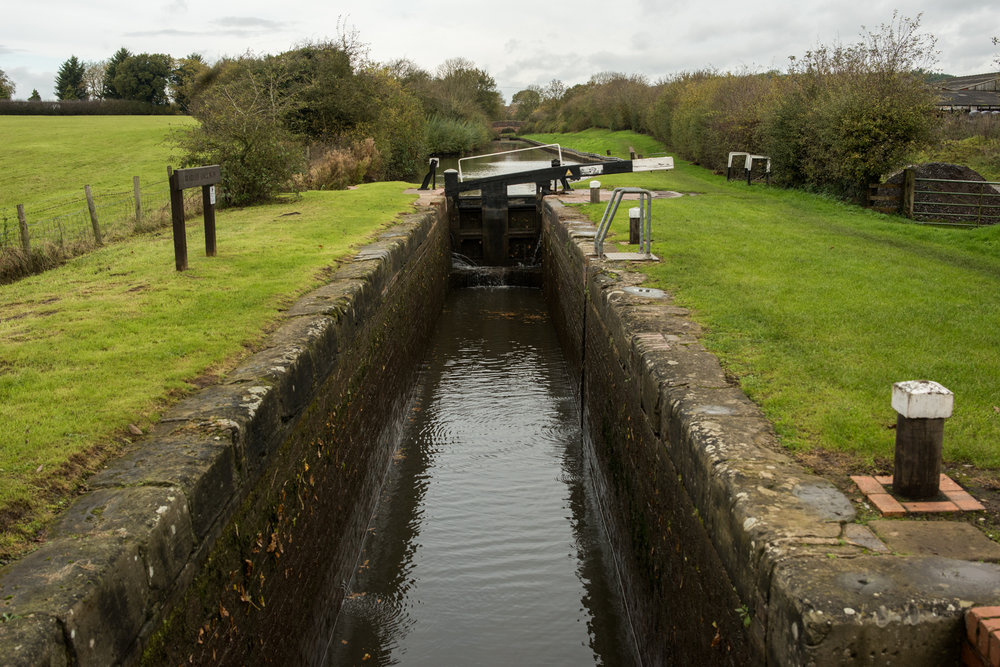 Stratford-upon-Avon To Kings Norton Birmingham Canal Lock Countryside Lock 2018