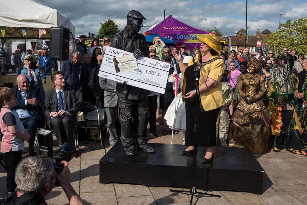 First UK Living Statue Statues Championship Championships 2018 Stratford-upon-Avon