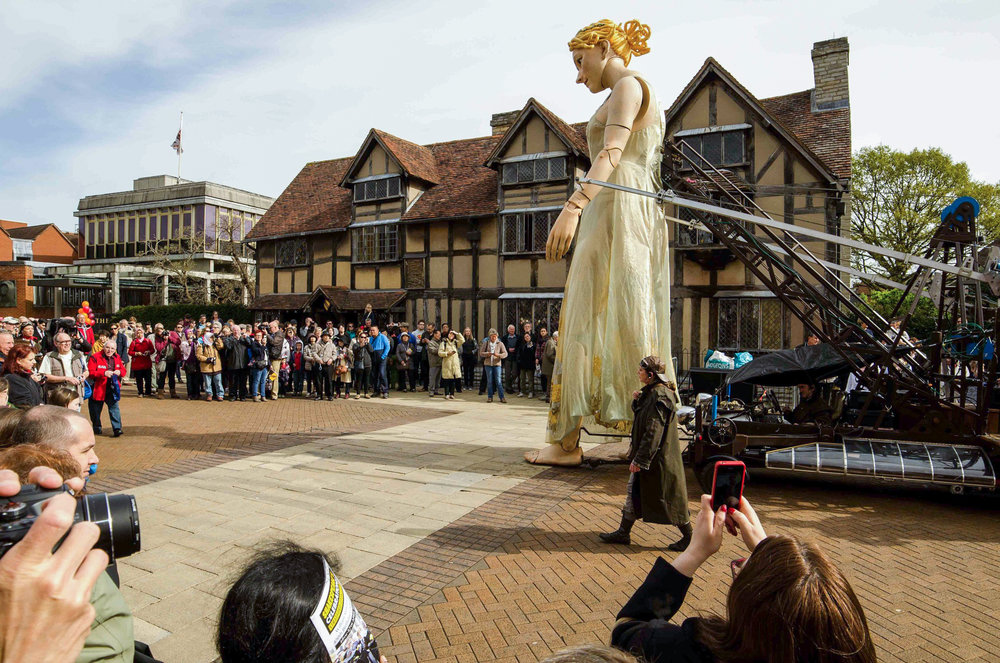Copy of Lady Godiva puppet visits for the Birthday Celebrations