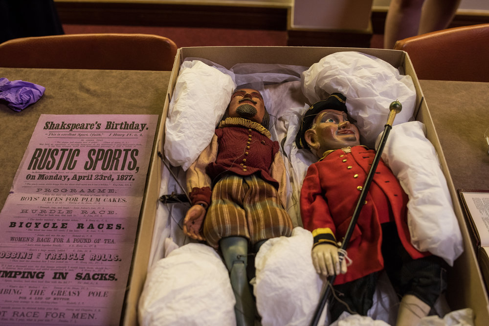 Puppets of Shakespeare and a town Beadle