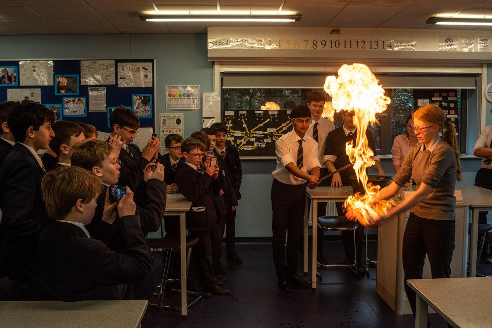 Classroom Fire Hands, 2019