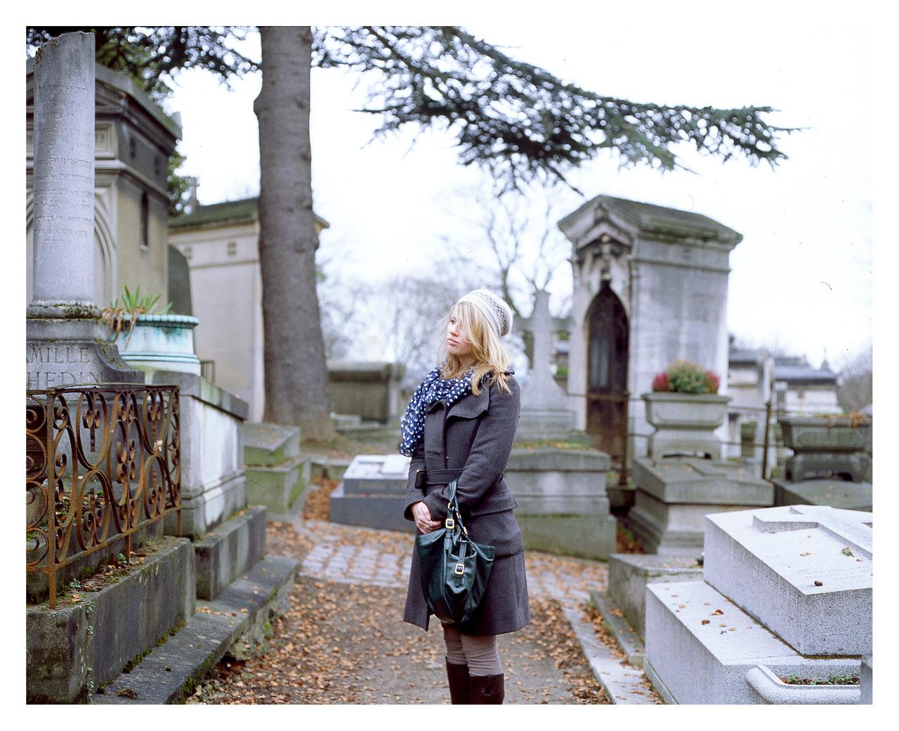 Hannah, Pere Lachaise cemetery, Paris. Feb '13