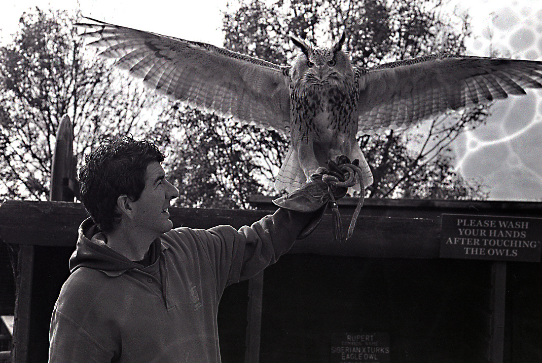 Mark and his favourite owl. If only I wasn't a numbskull when it comes to developing film.