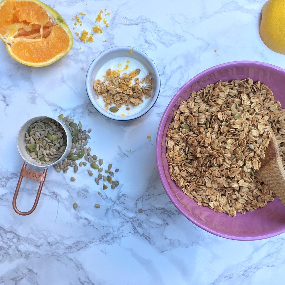 Citrus Almond Granola - by Celesete Cardoz