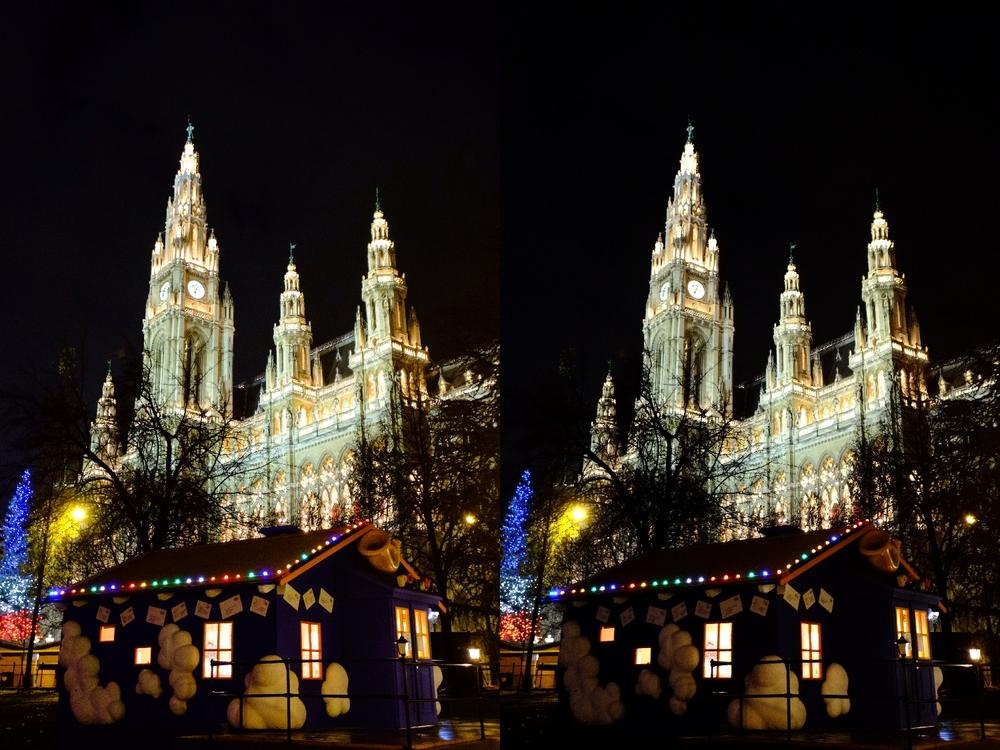 Links: JPEG aus RAW mit LR; Rechts: JPEG direkt aus Kamera; Fuji X-Pro 1 mit XF 10-24mm @ 24mm; 1/15sec; F/4.0; ISO 6400