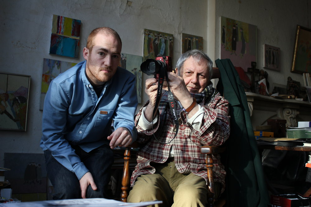 © innogreathurry.com/Tomas Leach; Tomas Leach (links/left) mit Saul Leiter (rechts/right)