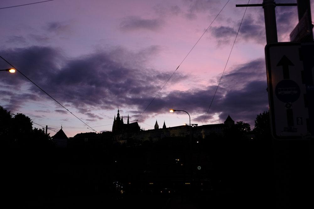 Veitsdom & Burg am Abend, Prag, 2017