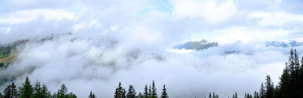 Wolkenbehangen, Katschberg 2018