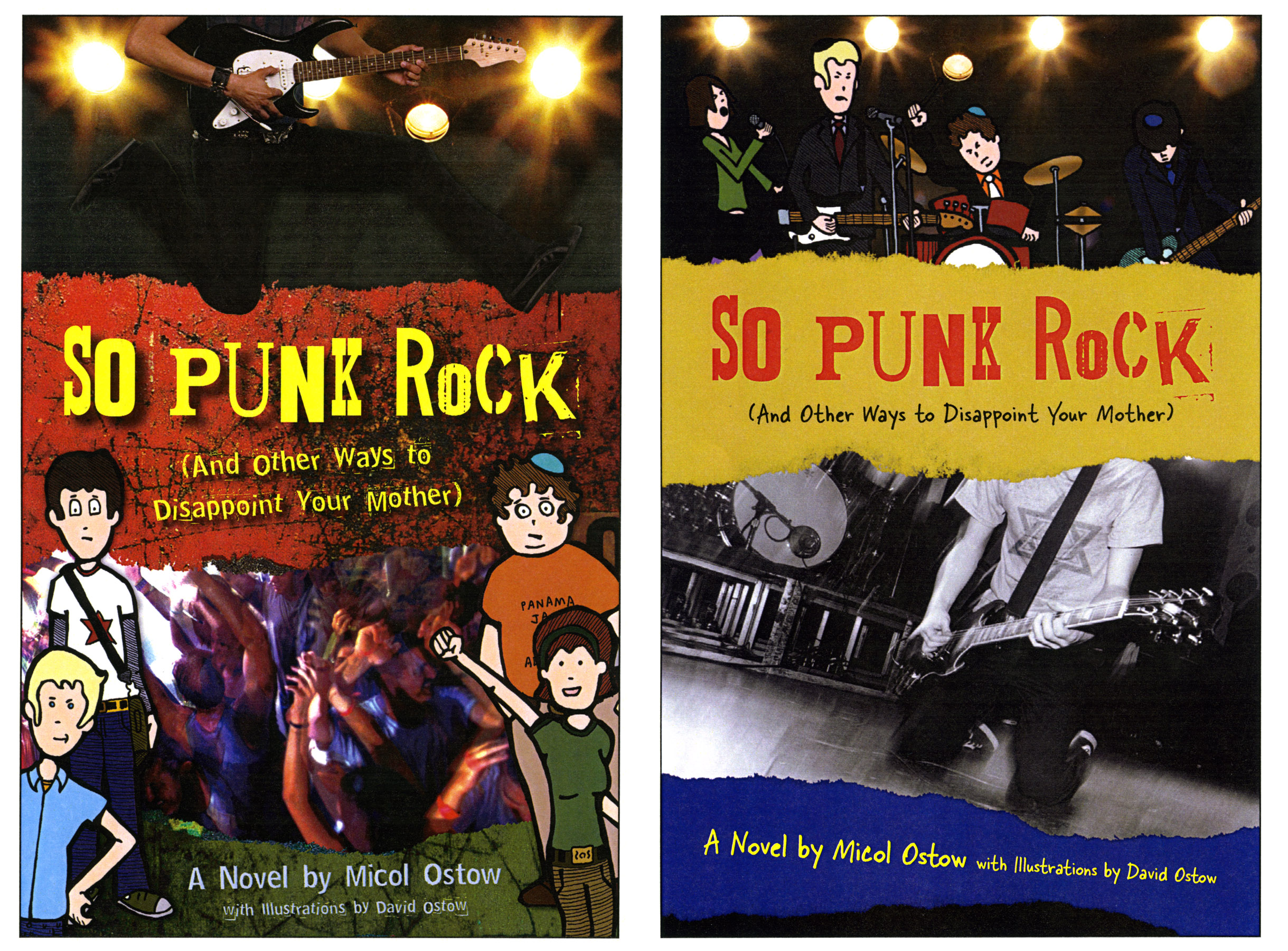 """""""The two alternate covers I designed used the same basic idea that was laid  out by Andrew and the same thoughts I had about punk rock."""
