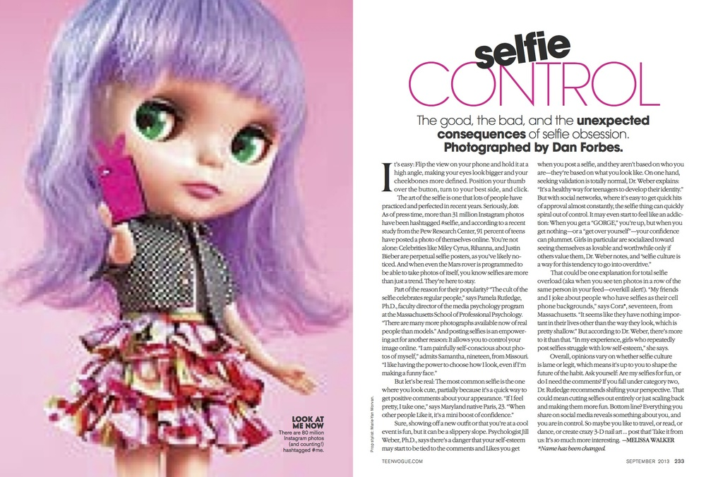 Selfies Teen Vogue