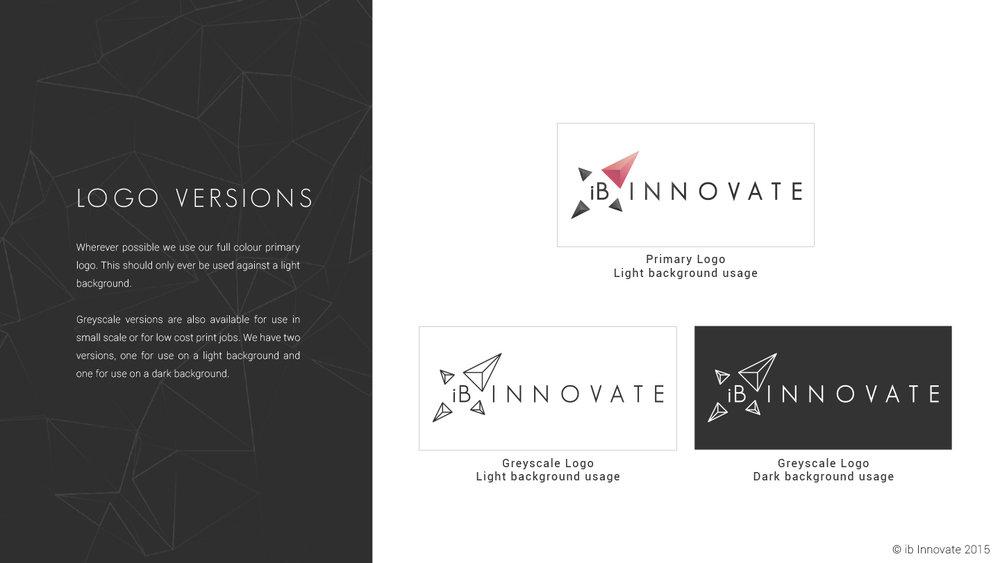 iB Innovate Logo Variants