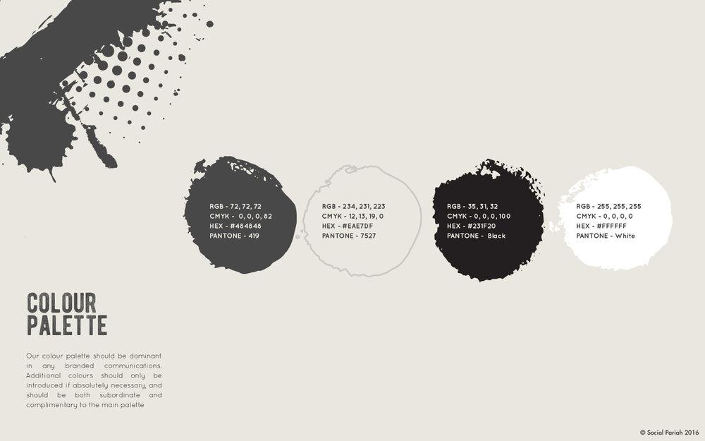 Social Pariah Brand Guidelines - Colour Palette