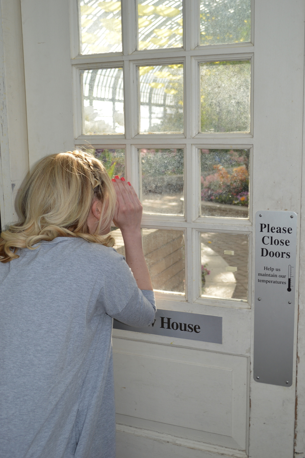 Sneaking a look at the Fern House, which opens today.