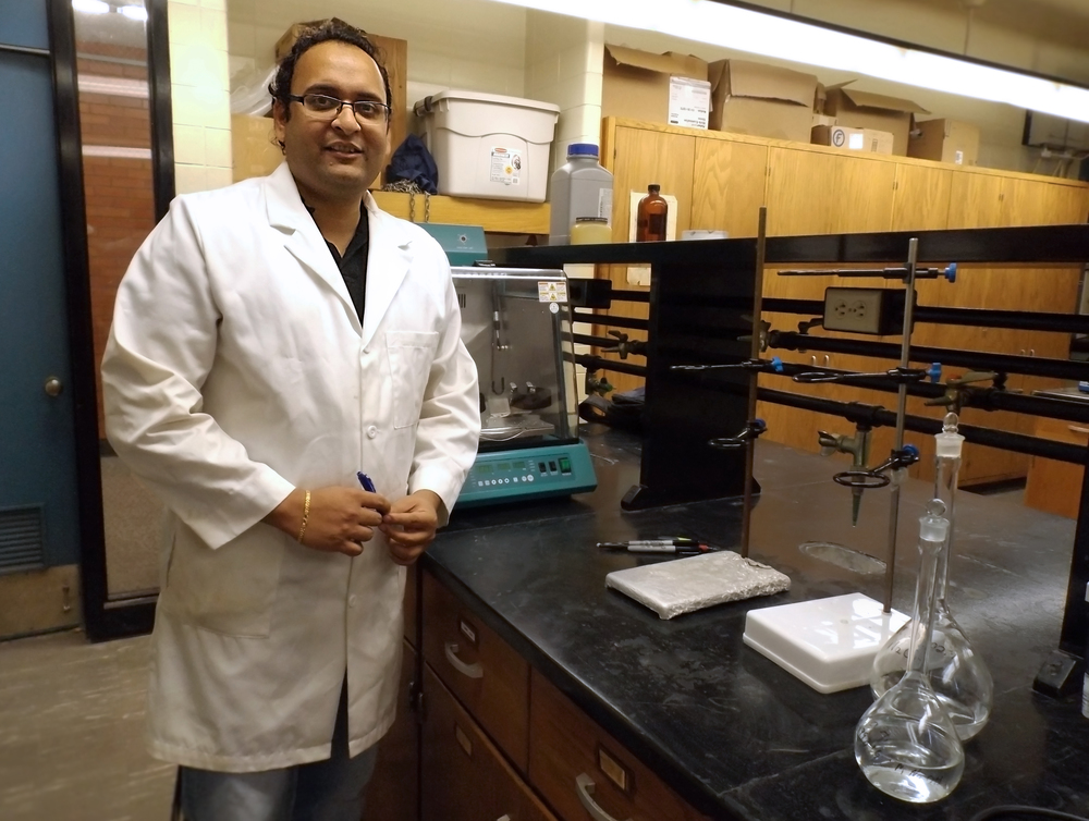 Vivek Agarwal stands in his lab space on the South Dakota School of Mines and Technology campus in Rapid City, South Dakota.