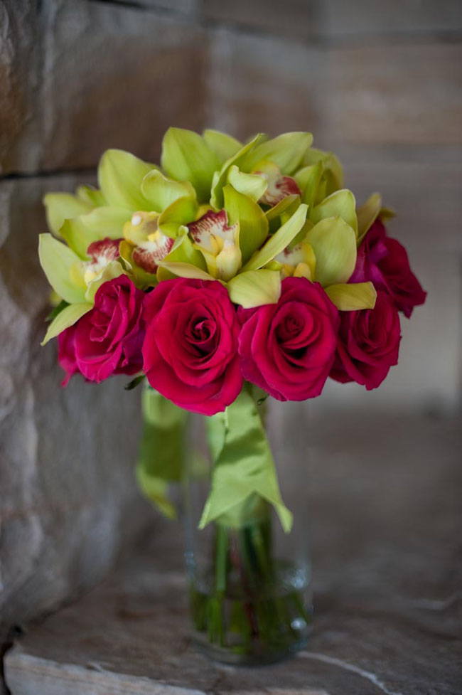 green orchid and pink rose bouquet.jpg