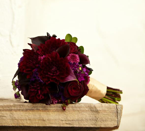 The Flower House Denver Dark Red Bridal Bouquet.jpg