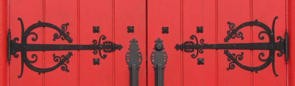 Red doors detail