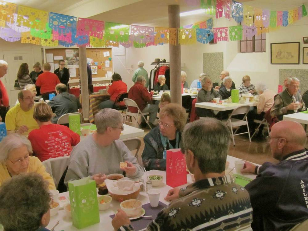 Guests at St. John's All Saints' Day Chili Supper.