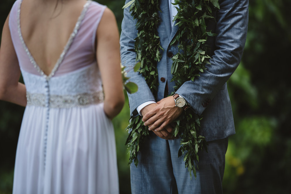 Hawaii Wedding at Kualoa Ranch Moli'i Garden