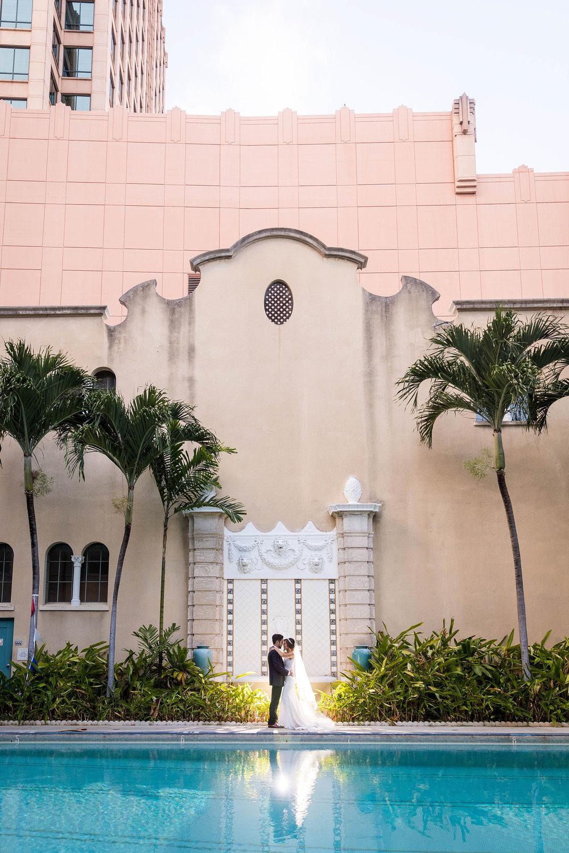 Urban Romantic Wedding in Downtown Honolulu