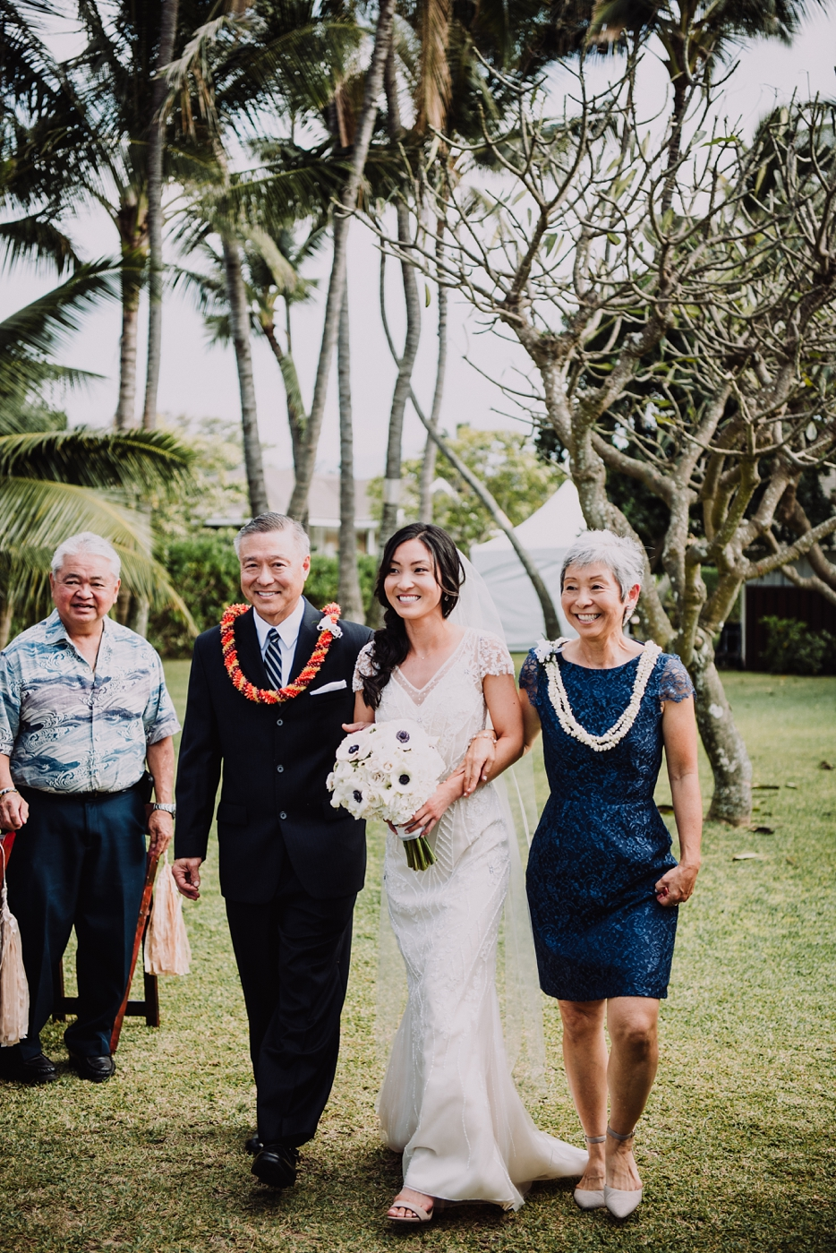 Beachside Hawaii Wedding on the North Shore