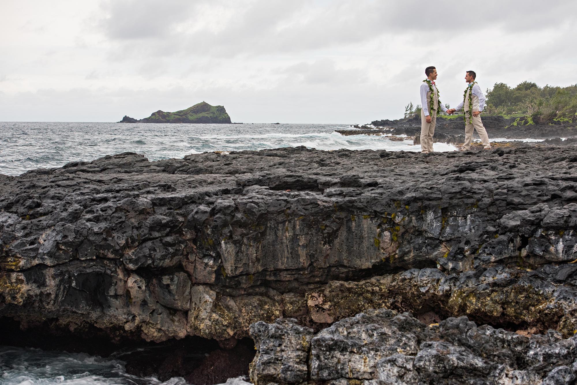 secluded oceanside wedding in hana � hawaii wedding style