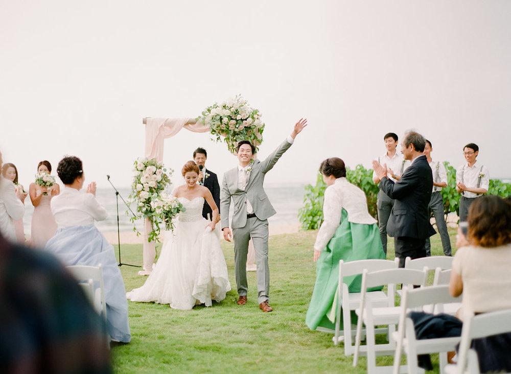 Hawaii Beachside Blush Wedding