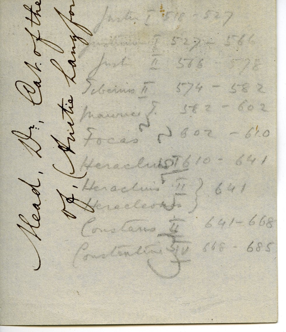 FitzGerald's list of Emperors aided in dating coins at the excavation.