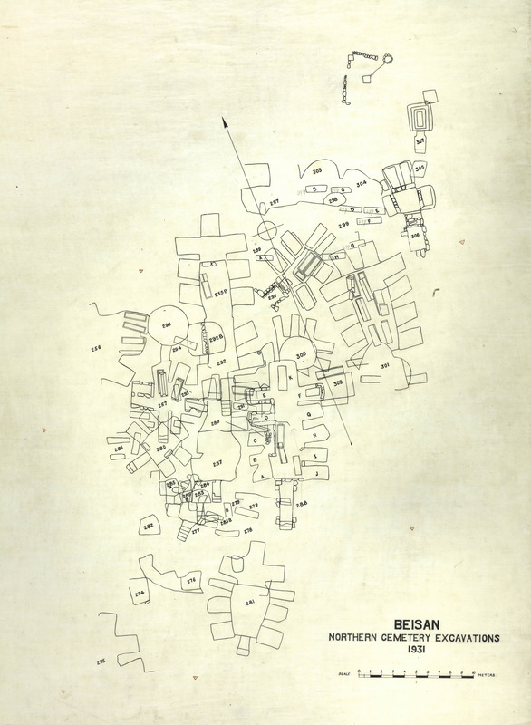 Plan of tombs excavated in 1931..