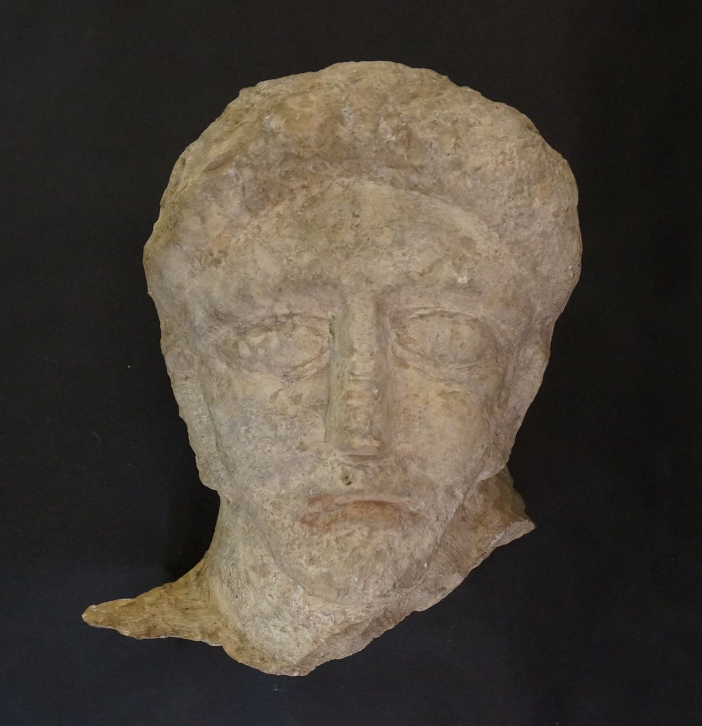 Male Head from Funerary