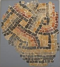 Mosaic Fragment with Colored Chain