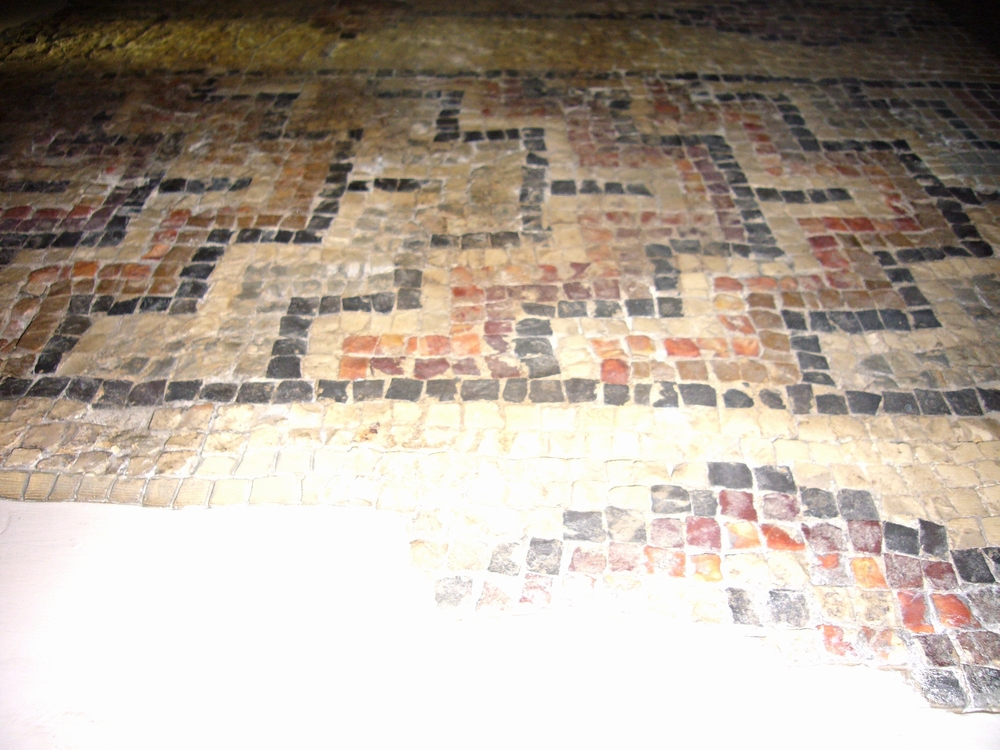 Mosaic with Fret Pattern
