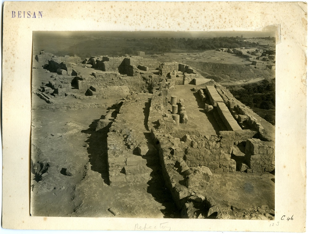 Structure from Medieval strata on Tel ( UPM Archives )