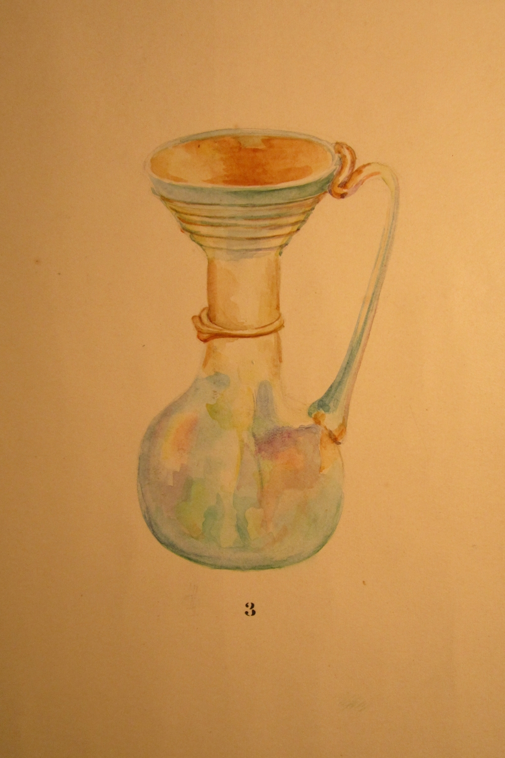 Watercolor of this jug, from the Rowe excavation watercolors.