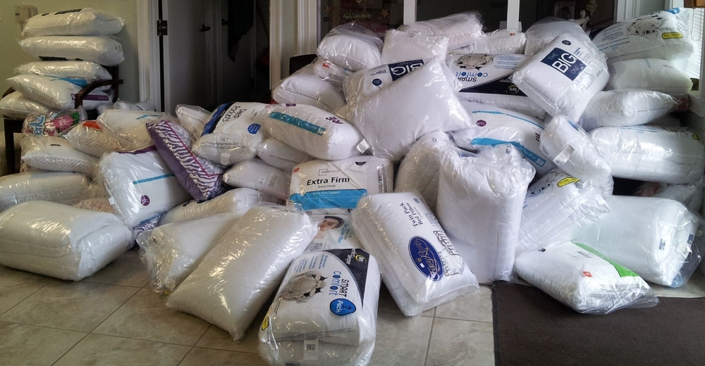 Bed pillow collection for children at the Florida Methodist Children's Home