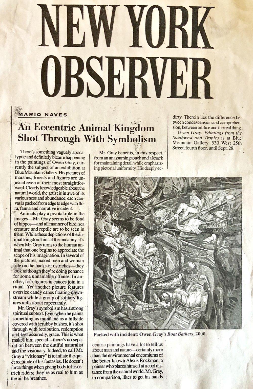 New York Observer - Mario Naves