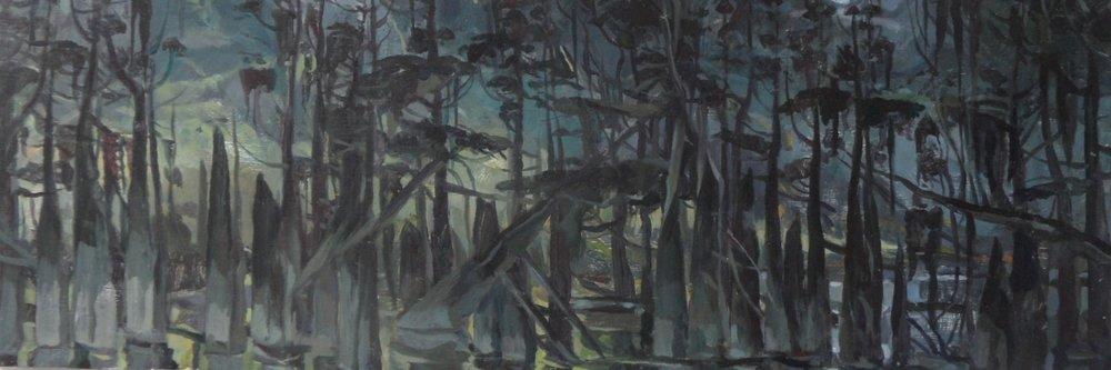 Smoldering Cypress Trees