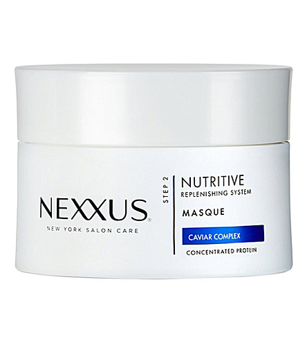Recommended hair mask   NEXXUS - Nutritive replenishing system (Caviar Complex)   Selfridges  £27.00