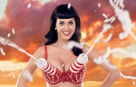 "Katy Perry from her music video for ""California Girls"""