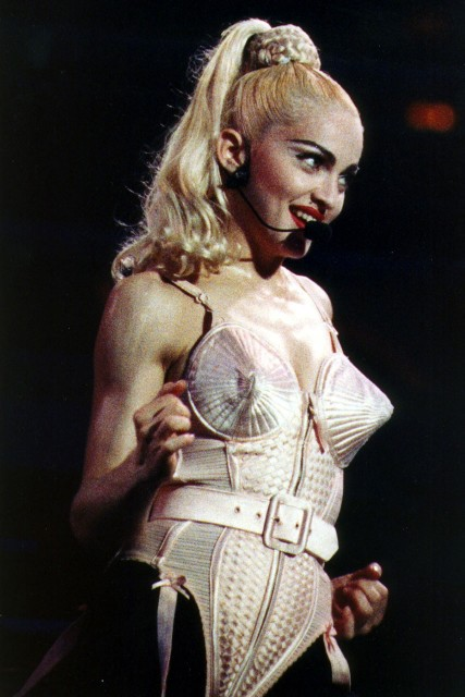 Madonna on her Blonde Ambition tour