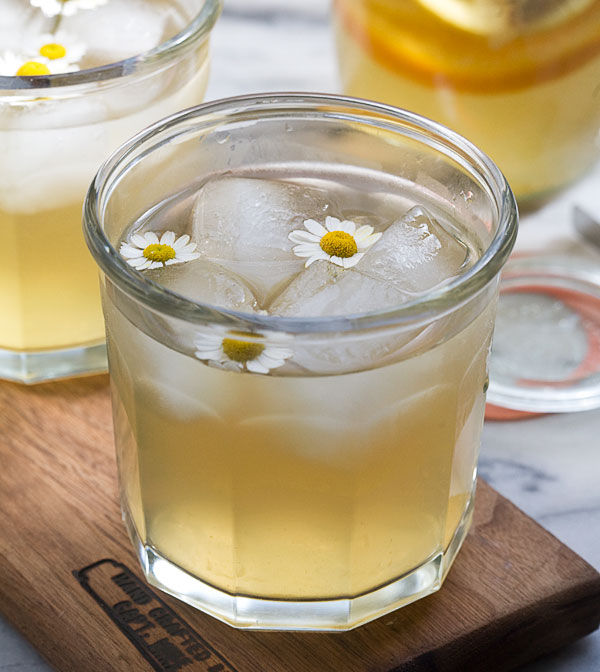 A honey, chamomile and whiskey concoction.