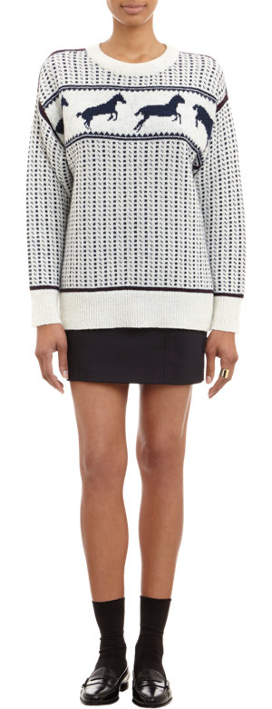Band of Outsiders Fair Isle Sweater from  Barneys