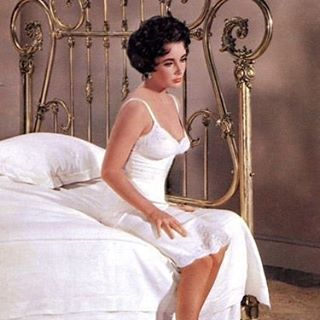 Obsessing over slips lately.  #iconic #elizabethtaylor #lingerielove